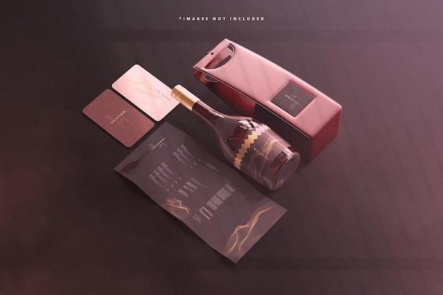 Scena makiety marki wina z zakrętką