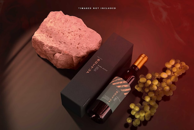 Scena makiety marki wina