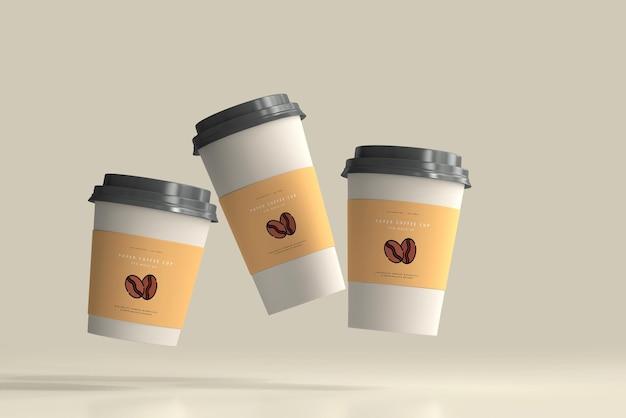 Scena makiety papierowej filiżanki kawy