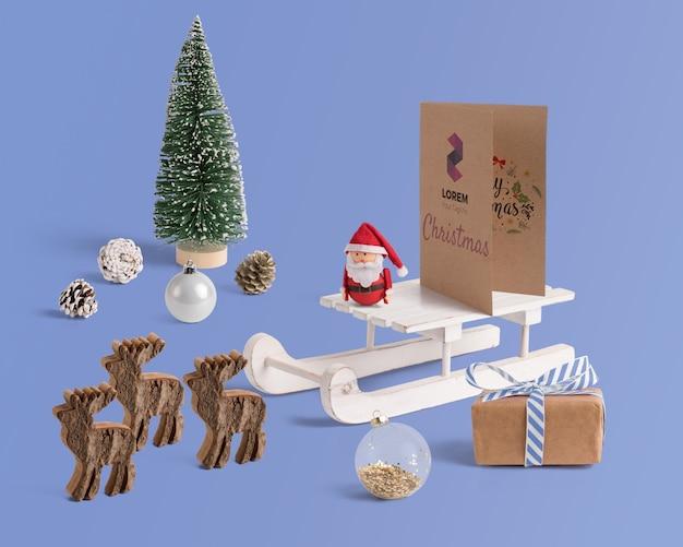 Scena twórca makieta z christmas koncepcji
