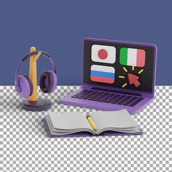 Scena w języku obcym renderowania 3d