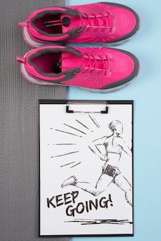 Schowek mockup z koncepcji fitness