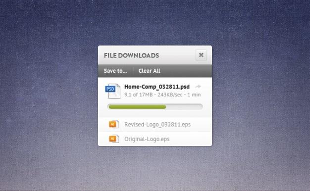 Ściągnij plik osx grunge pasek postępu widget