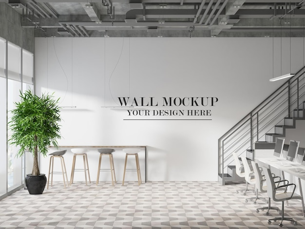 Ściana makiety biura w stylu loft