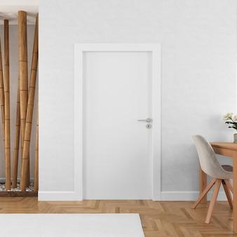 Ściana z pustą makietą drzwi