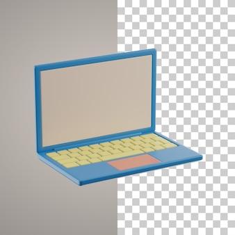 Ścieżka przycinająca laptopa 3d