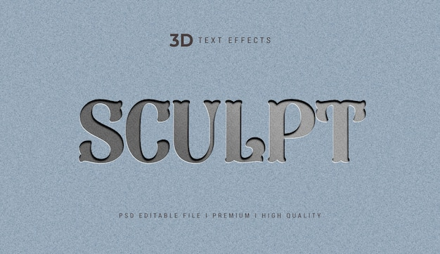 Sculpt 3d text effect template