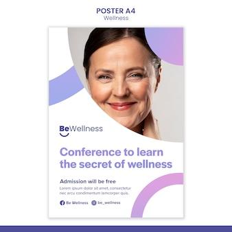 Sekret szablonu plakatu wellness