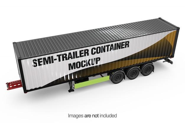 Semi-trailer container mockup