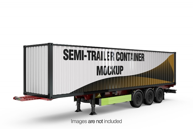 Semi-trailer container mockup