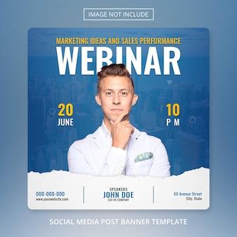 Seminarium online spotkanie z marketingiem cyfrowym w mediach społecznościowych ulotka postu