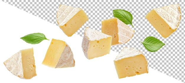 Ser camembert na białym tle