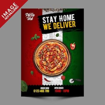 Seria szablonów ulotek włoskiej pizzy
