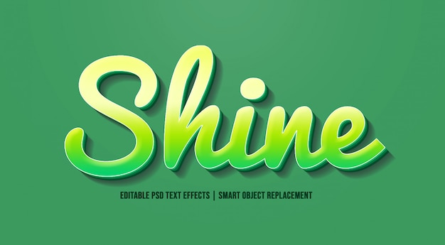 Shine modern green text effects