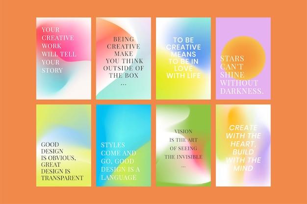 Siatka gradientowa kolekcja szablonów psd na plakat