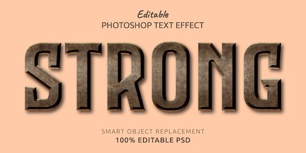 Silny efekt stylu edytowalnego tekstu