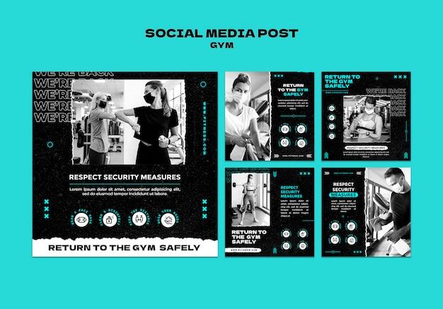 Siłownia zwraca post w mediach społecznościowych