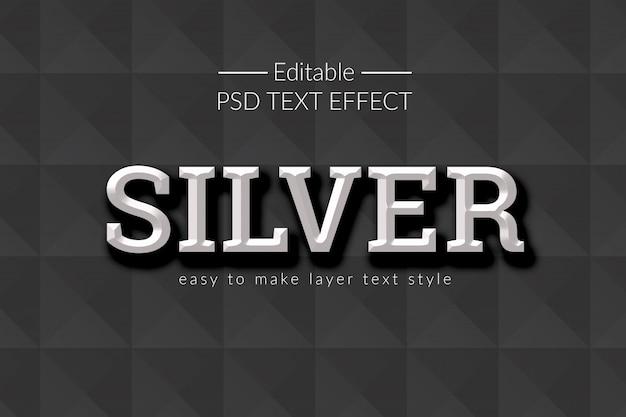 Silver 3d photoshop efekty tekstowe styl