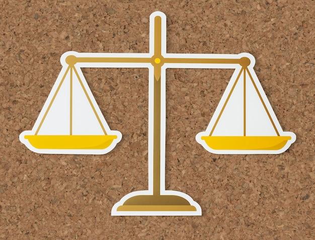 Skala prawna ikony sprawiedliwości