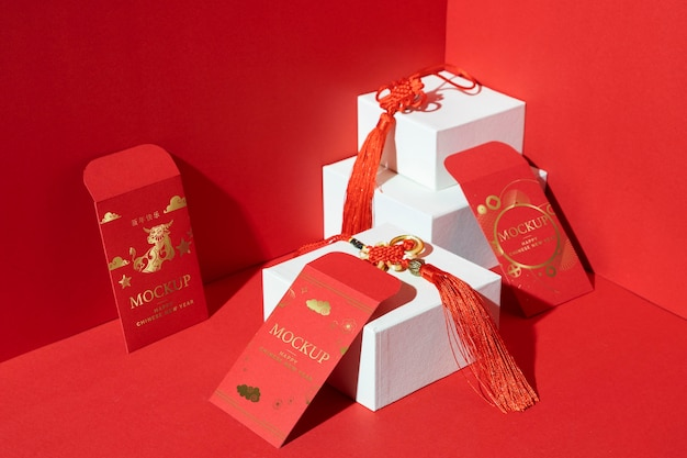 Skład elementów makiety chińskiego nowego roku