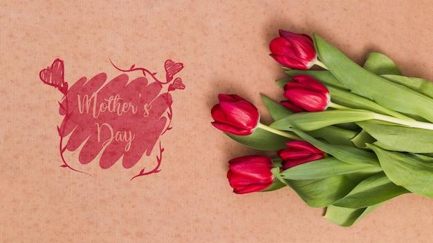 Skład kompozycji dzień matki świeckich z copyspace dla logo