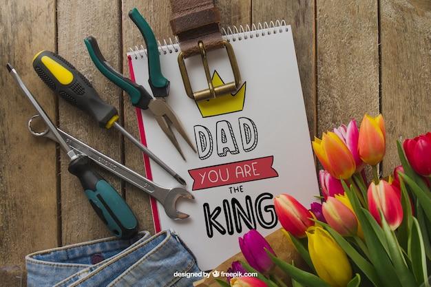 Skład ojca z narzędziami