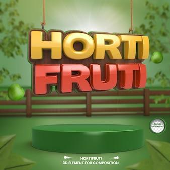 Skład sklepu spożywczego 3d dla kampanii supermarketów w języku portugalskim