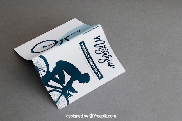 Składana broszura makieta