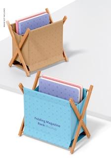 Składane stojaki na czasopisma makieta