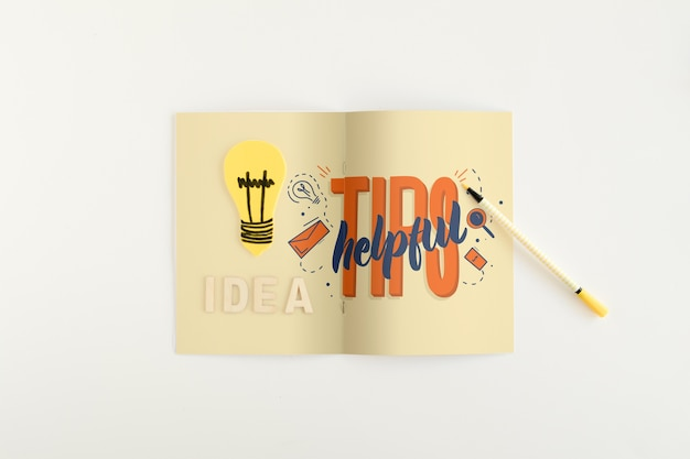 Składany papier makieta z koncepcją porady