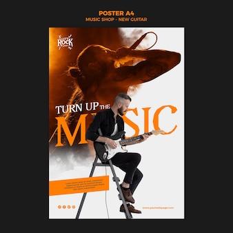 Sklep muzyczny nowy plakat gitarowy