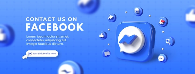 Skontaktuj się z nami promocja strony biznesowej na makietę okładki na facebooka