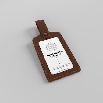 Skórzana makieta etui na identyfikator członka posiadacza karty identyfikacyjnej