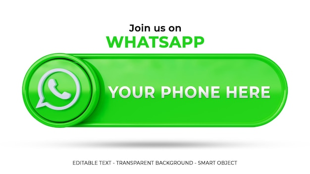 Śledź nas w mediach społecznościowych whatsapp z logo 3d i profilem linków