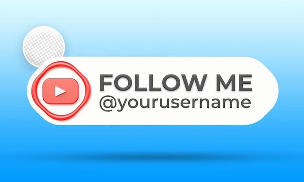 Śledź Nas W Szablonie Banerów Niższej Trzeciej Strony Youtube W Mediach Społecznościowychyoutube Premium Psd