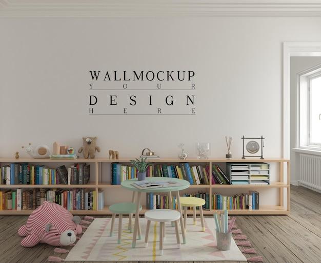 Śliczny pokój zabaw dla dzieci ze ścianą makiety