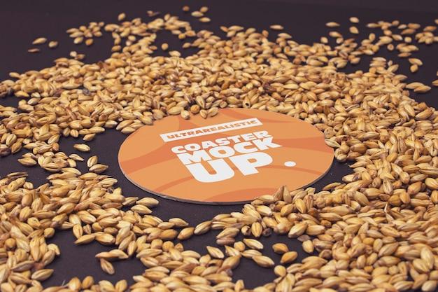 Słód okrągły coaster perspektywy