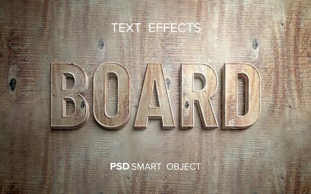 Słowo z drewnianym efektem tekstowym