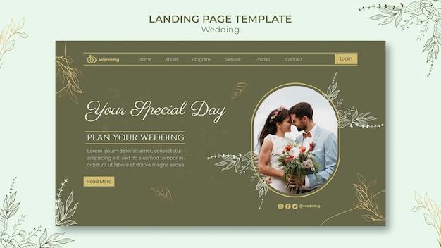 Ślubny szablon internetowy ze zdjęciem
