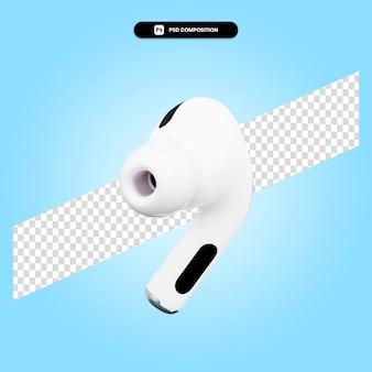 Słuchawki 3d render ilustracja na białym tle