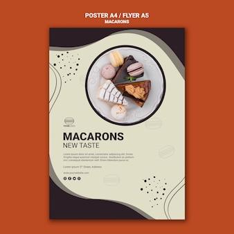 Smaczny wzór ulotki macarons