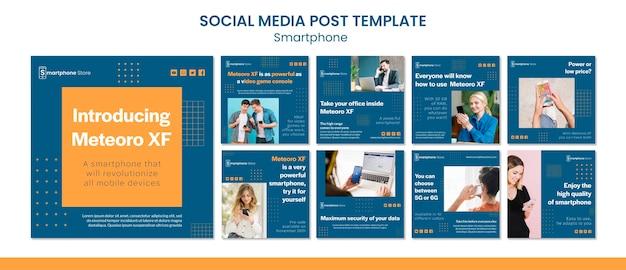 Smarphone sklep szablon postu w mediach społecznościowych