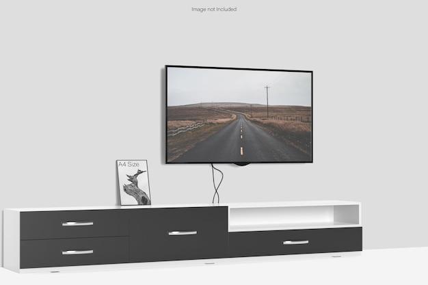Smart tv i ramka na zdjęcia w formacie a4