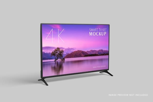 Smart tv makieta na białym tle renderowania 3d