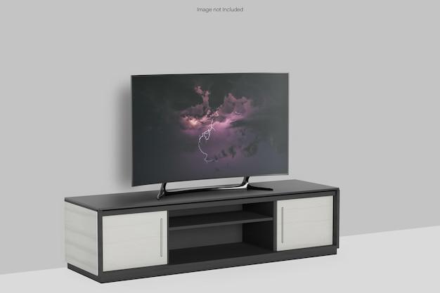 Smart tv z makietą biurka