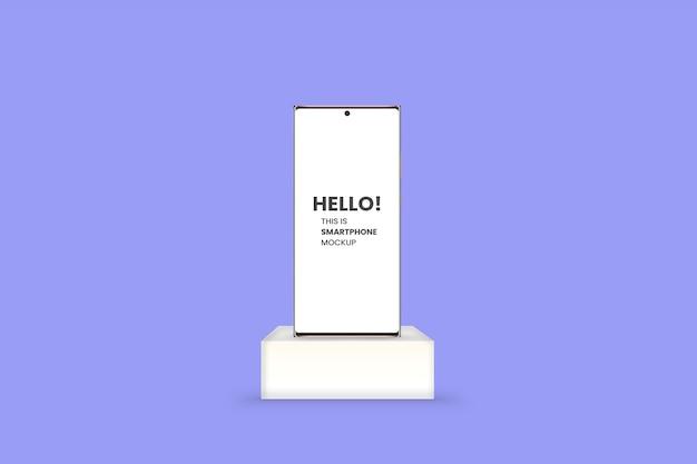 Smartfon na makiecie białej platformy