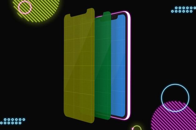 Smartfon z ekranem makiety do prezentacji aplikacji
