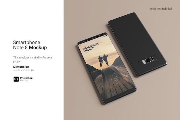 Smartphone note 8 mockup design