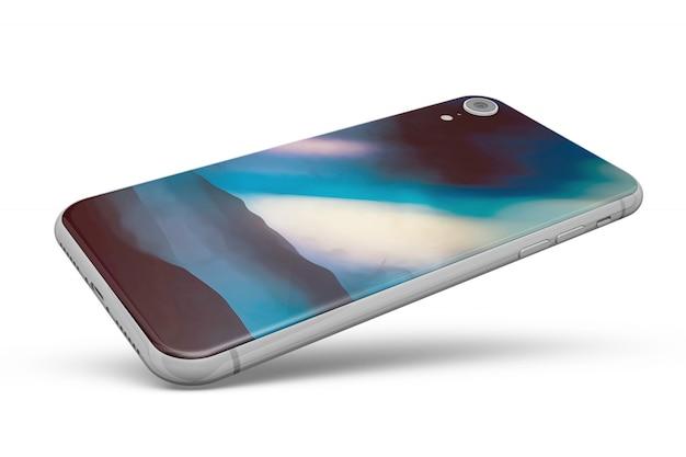 Smartphone skóry makieta na białym tle