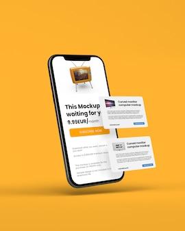 Smartphone z makieta karty kredytowej
